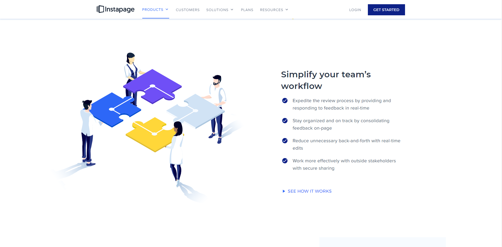 Instapage Team collab